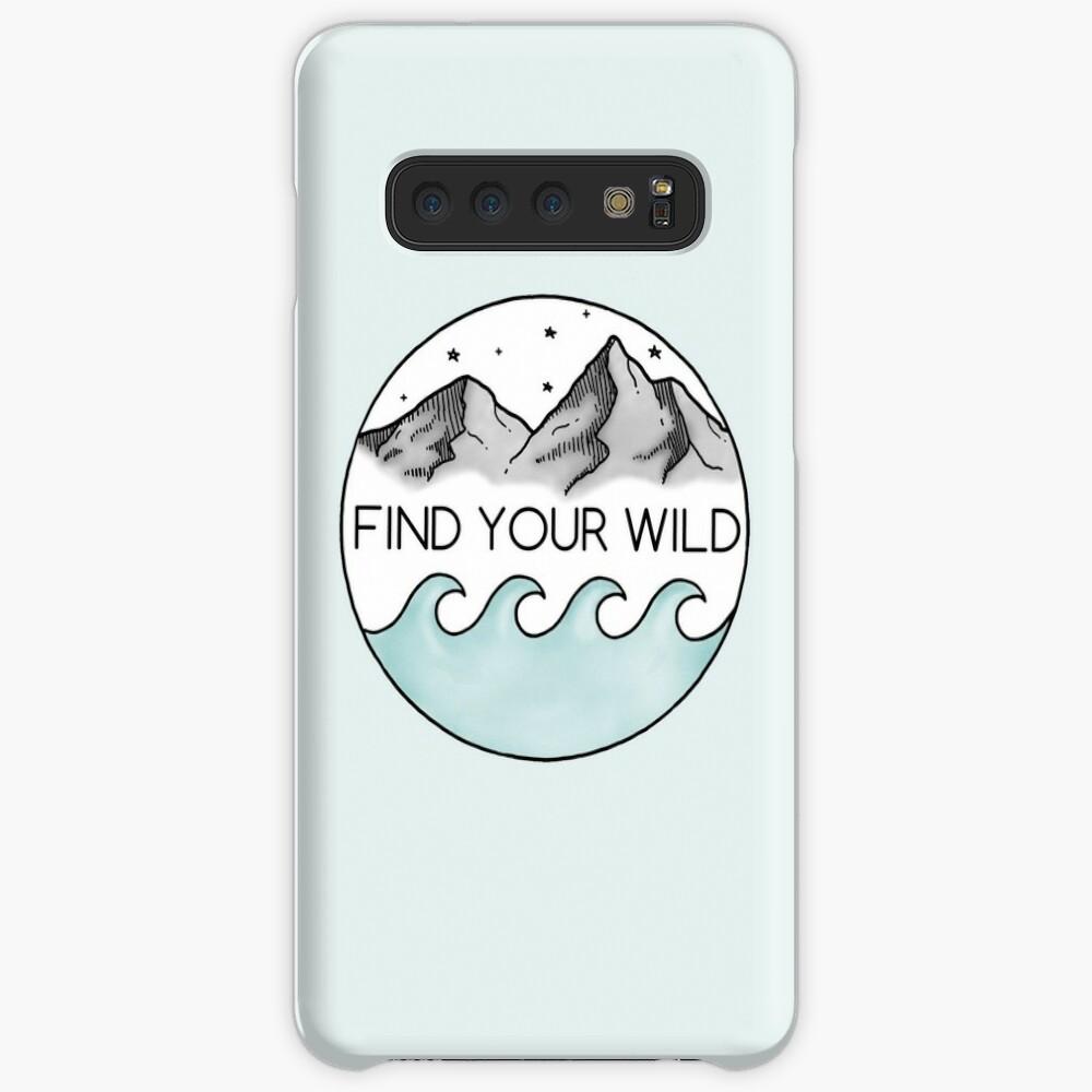 Finde deine Wildnis Hülle & Klebefolie für Samsung Galaxy