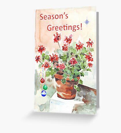 Season's Greetings - wishing you love and happiness Greeting Card