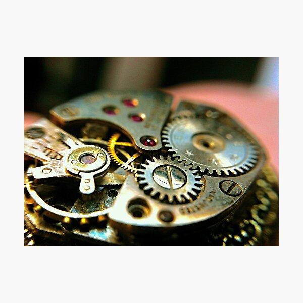 Macro-photography of watch interior Photographic Print