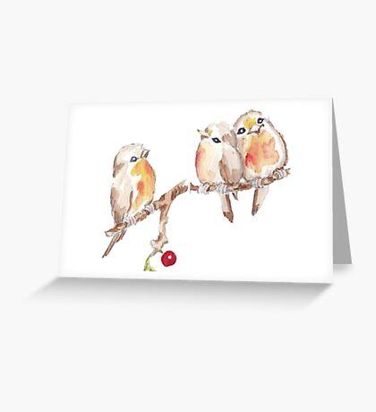 Three Little Birds 2 Greeting Card