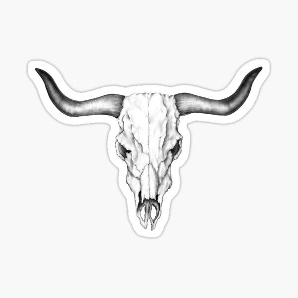 Bull Skull Sticker