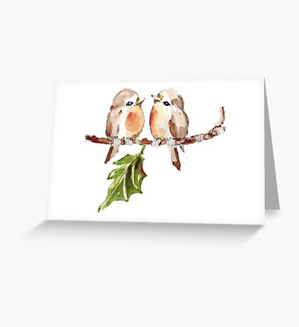 Two Little Birds 1 Greeting Card