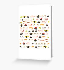 Sweet Sushi Pattern Greeting Card
