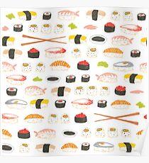 Sweet Sushi Pattern Poster