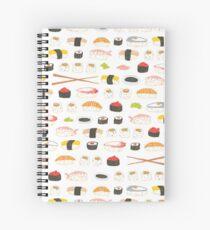 Sweet Sushi Pattern Spiral Notebook