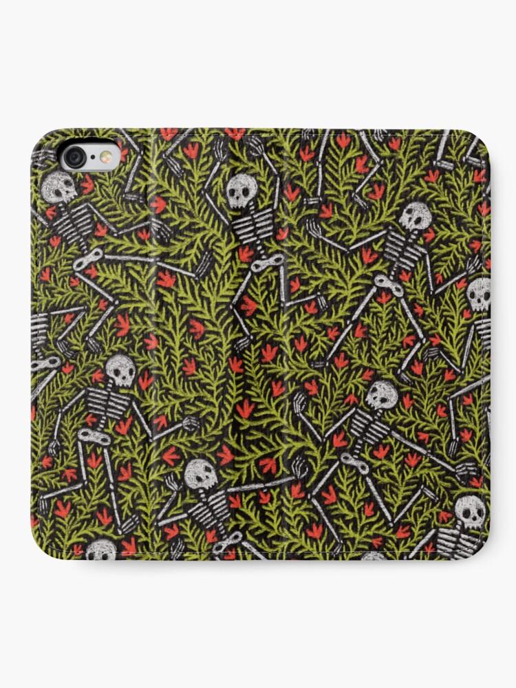 Alternate view of Dancing Skeletons Pattern iPhone Wallet