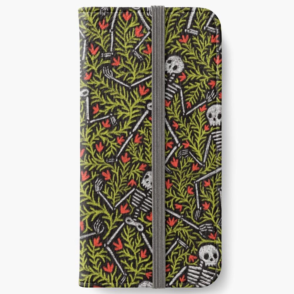 Dancing Skeletons Pattern iPhone Wallet