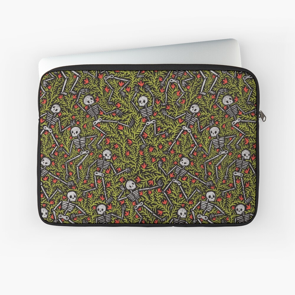 Dancing Skeletons Pattern Laptop Sleeve