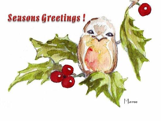 1 Little Bird - Season's Greetings! by Maree Clarkson