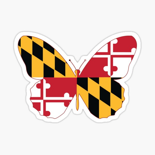 Maryland Butterfly Sticker