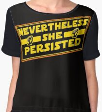 Nevertheless She Persisted - The Force is Strong in Women Women's Chiffon Top