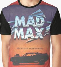 The Last of the V8's - Vintage Custom Mad Max Poster  Graphic T-Shirt