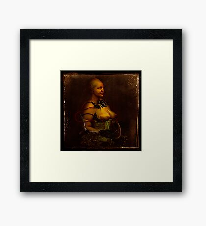The perfect woman; test subject #3 Framed Print