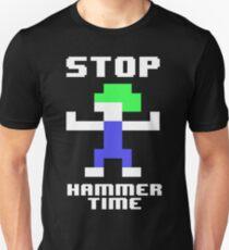Lemmings Blocker - Stop, Hammer Time! Pixel Art T-Shirt