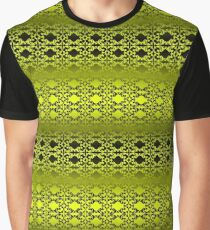 Lemon Yellow and Black Graphic T-Shirt
