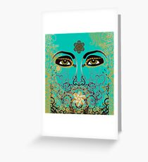 The Eyes of Time Greeting Card