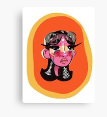 sun-burnt girl Canvas Print