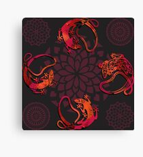 Sensuous Lizards Canvas Print