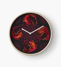 Sensuous Lizards Clock