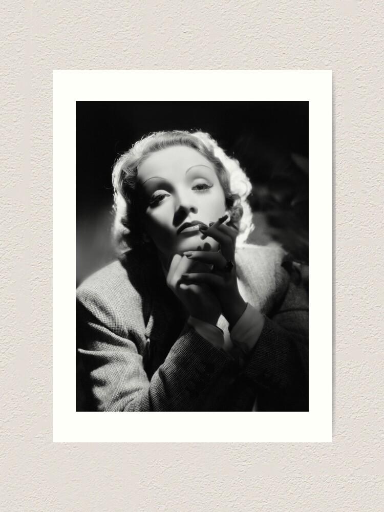 Marlene Dietrich Vintage Poster Photo Black and White Print 12x16
