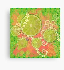 Lime Feast Canvas Print