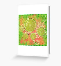 Lime Feast Greeting Card