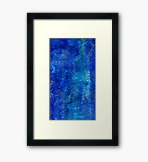 I've got the blues. Framed Print