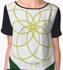 """The Modern Bloom"" Designer Print Women's Chiffon Top"