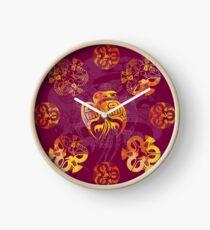 Crow Mandala 2 Clock