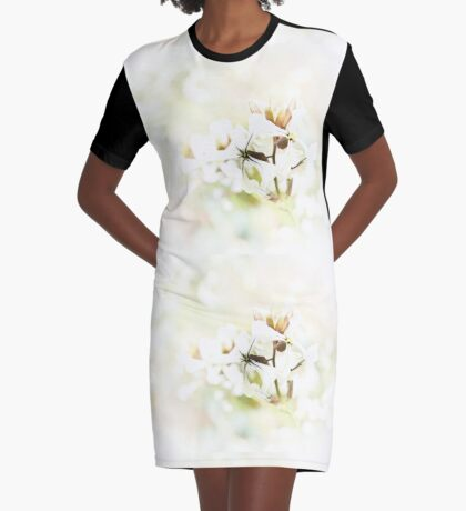 Rocket Flower Graphic T-Shirt Dress