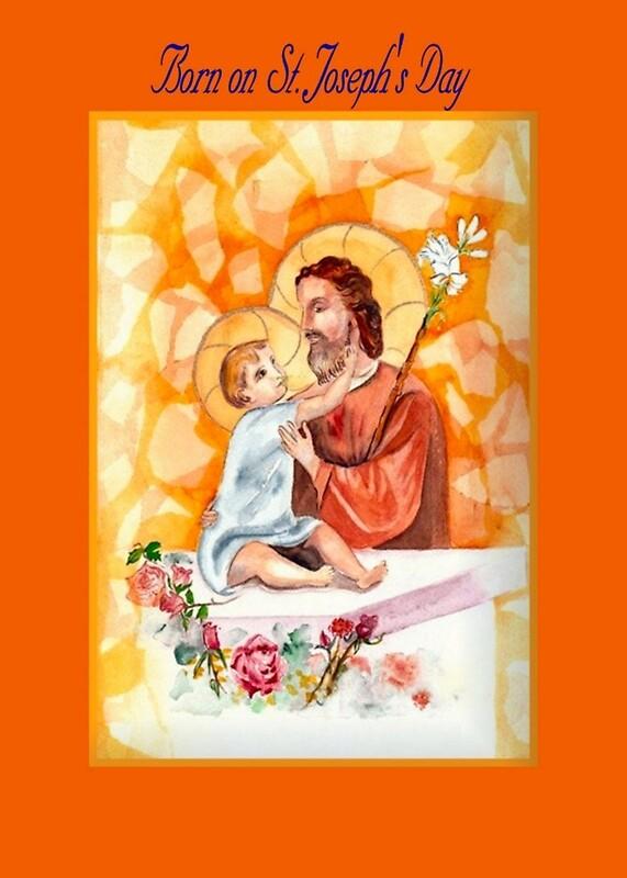 Birthday on feast day of st joseph greeting cards by catholicards birthday on feast day of st joseph by catholicards m4hsunfo Images