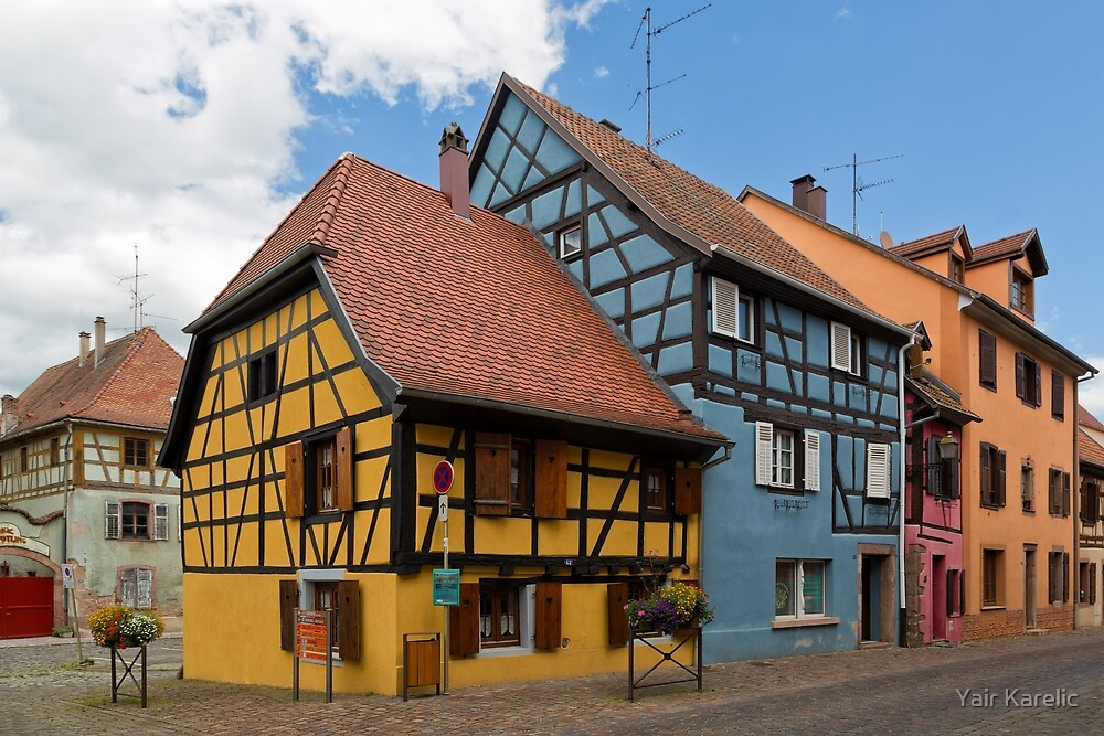 Colorful Half-Timbered Buildings by Yair Karelic