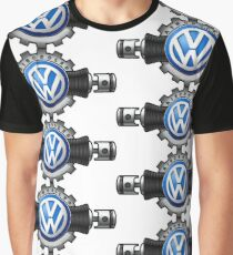 VW Flat four Aircooled Graphic T-Shirt