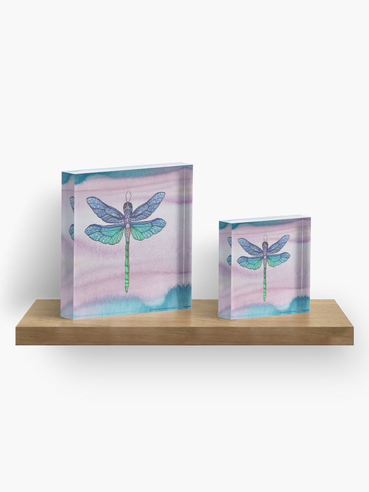 Alternate view of Dragonfly 2 Acrylic Block