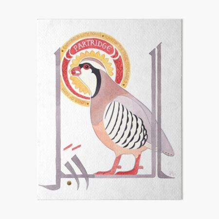 The Conference of the Birds: The Partridge Art Board Print