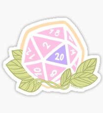 Pastel 20 sided dice Dungeons and Dragons sticker Sticker