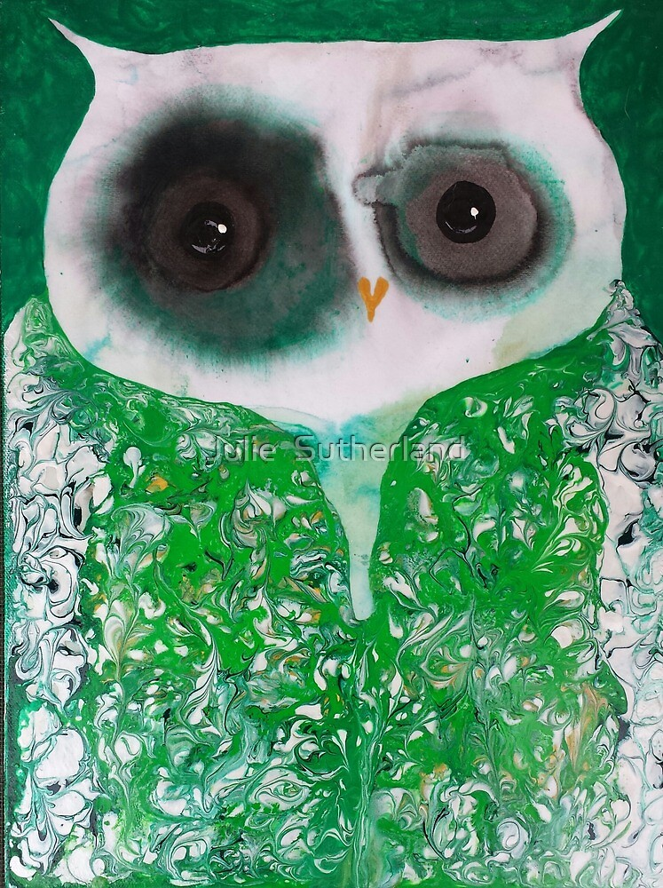 Green Owl by Julie  Sutherland