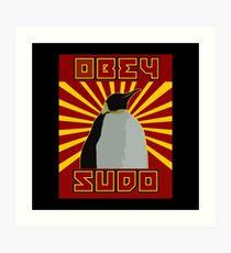 Obey Sudo - Linux  Art Print