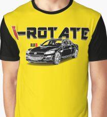 Drawing - Mazda RX8 with Caption SKA083 Graphic T-Shirt