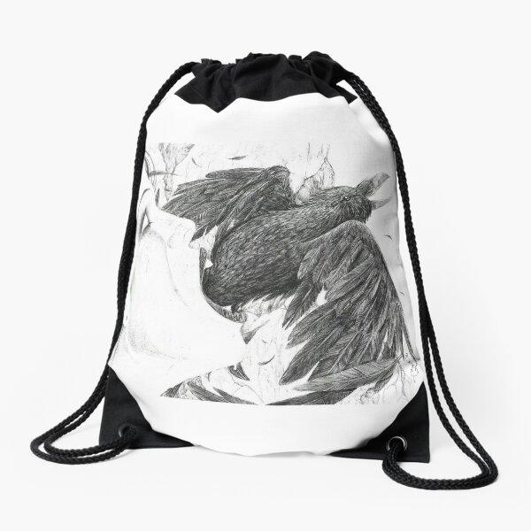 Nevermore by Empty Jasper Drawstring Bag