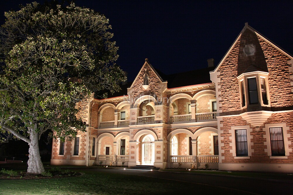 Mt Gambier old convent by night by Nick Hunt