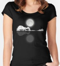 Nature Guitar Night Women's Fitted Scoop T-Shirt