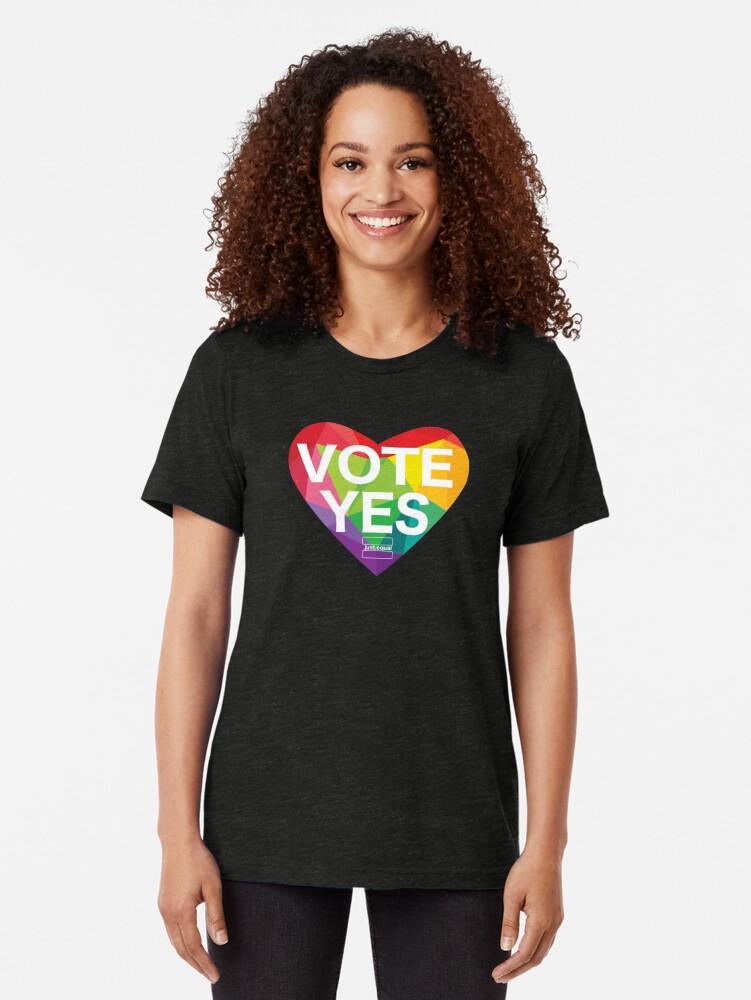 Alternate view of Australia, Vote Yes! Tri-blend T-Shirt