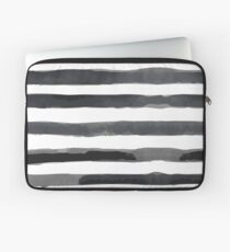 Abstract Black and White Stripe Laptop Sleeve