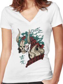 吉光 Yoshimitsu, Leader Of The Honorable Manji Clan Women's Fitted V-Neck T-Shirt