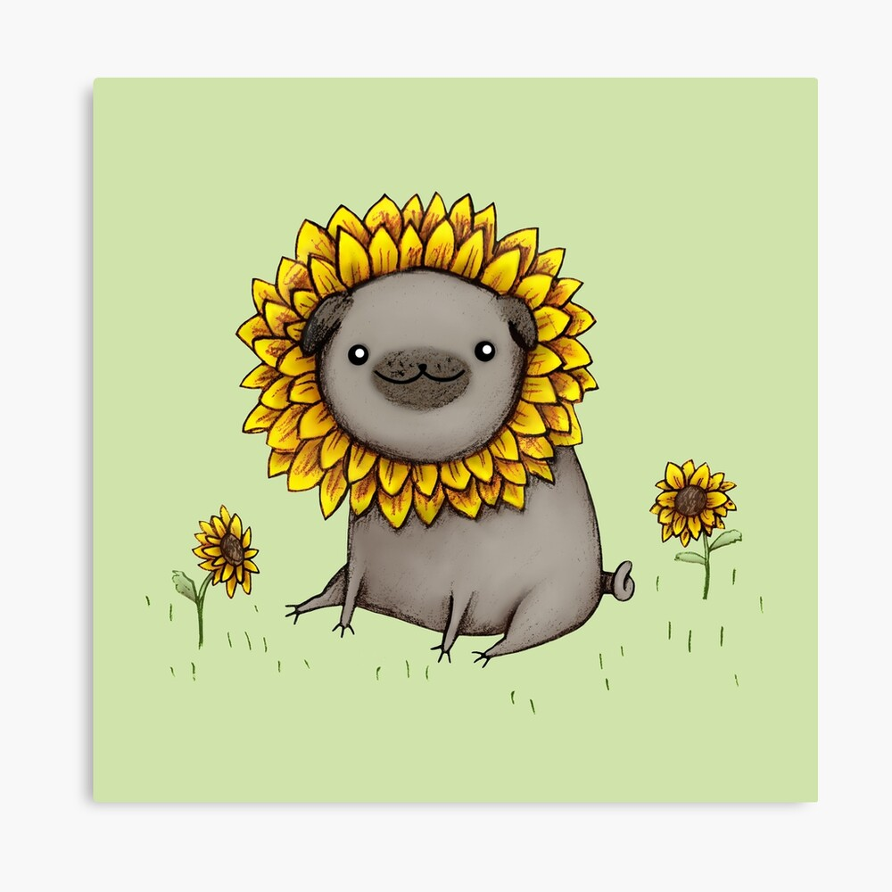 Pugflower Canvas Print