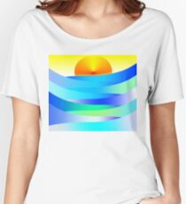 Sunset and Waves Women's Relaxed Fit T-Shirt