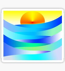 Sunset and Waves Sticker
