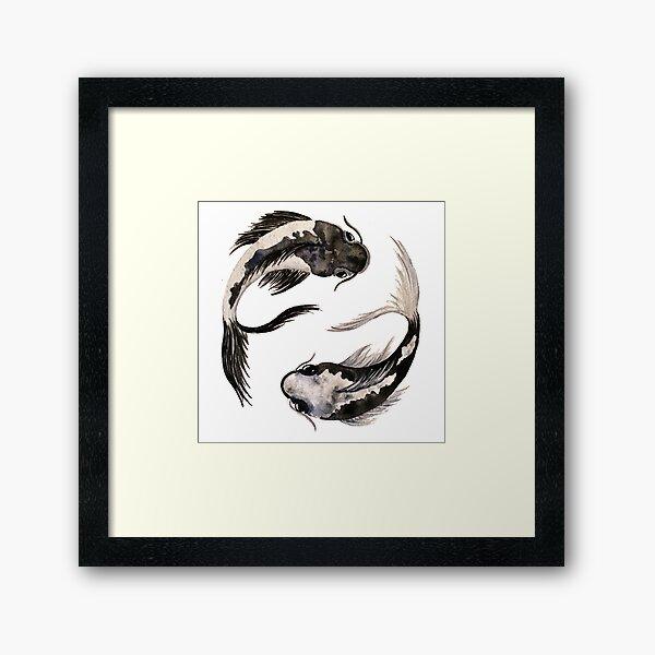 Yin Yang Koi Framed Art Print