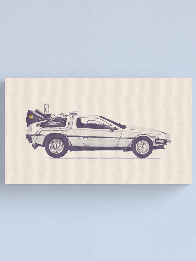 Alternate view of Delorean Canvas Print